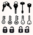 Icon Key Black Silhouette decorative items vector image vector image