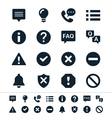 Information and notification icons vector image vector image