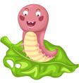 isolated cartoon worm vector image