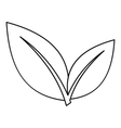 Leaf icon outline style vector image vector image