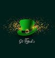 leprechaun hat st patricks day festival background vector image
