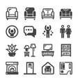 living room icon vector image vector image