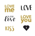 Love you typography set vector image vector image