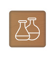 medical lab icon on wooden blocks isolated on a vector image