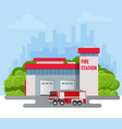 modern fire station building vector image vector image