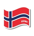 norway patriotic flag isolated icon vector image vector image