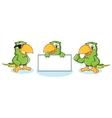 Parrot Mascot happy vector image vector image