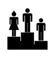 podium flat icon vector image