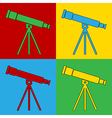 Pop art telescope icons vector image