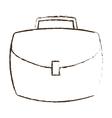 portfolio suitcase business icon sketch vector image