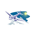 Propeller airplane retro vector | Price: 3 Credits (USD $3)