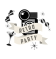 retro party design vector image vector image