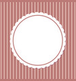 retro photoframe spare place in round frame vector image