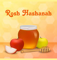 rosh hashanah holiday concept background vector image vector image
