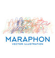running people marathon concept vector image vector image