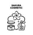 sakura cosmetic black vector image vector image