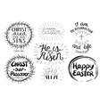 set of 7 hand lettering quotes about easter vector image