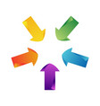 set of color arrows vector image