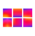 set of colorful smooth gradient color vector image