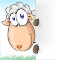 sheep cartoon with background vector image vector image