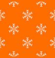 snowflake pattern orange vector image vector image