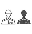 soldier line and glyph icon warrior vector image vector image