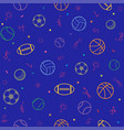 sport theme seamless pattern background football vector image vector image