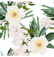spring bouquets on vintage white background vector image vector image