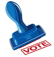 stamp vote vector image vector image