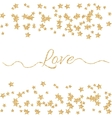 Valentines Day glitter shimmer card background vector image vector image