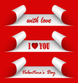 Valentines day red stickers vector image