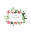 watercolor vintage flowers wreath hand painted vector image vector image