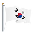 waving south corea flag isolated on a white vector image