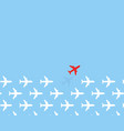 white airplanes group fly in one direction and vector image vector image