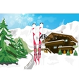 winter scenery with snow vector image vector image