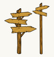 wooden arrow signboard and pointer concept vector image