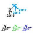 years guys help flat icon vector image vector image