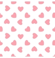 Pink hearts - seamless pattern vector image
