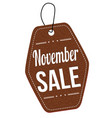 november sale label or price tag vector image