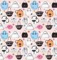 Seamless pattern with bags vector image