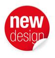 new design label tag sticker vector image