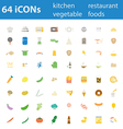 64icon kitchen restuarant vegie food vector image vector image