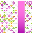 Abstract Colorful Triangular Background vector image