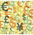 abstract seamless pattern with money vector image
