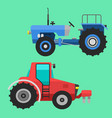 agricultural vehicles tractor harvester machine vector image vector image