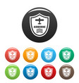 airborne badge icons set color vector image vector image