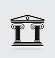 ancient greek architecture vector image vector image