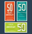 anniversasry background 50 years vector image vector image