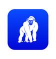 bonobo icon digital blue vector image vector image