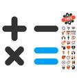 calculator icon with love bonus vector image vector image